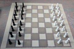 Juego de ajedrez al aire libre gigante Fotografía de archivo