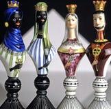 Juego de ajedrez antiguo de la porcelana Fotos de archivo libres de regalías