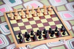 Juego de ajedrez clásico Imágenes de archivo libres de regalías