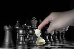 Juego de ajedrez de la estrategia foto de archivo libre de regalías