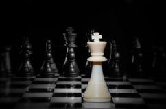 Juego de ajedrez de la estrategia fotos de archivo libres de regalías