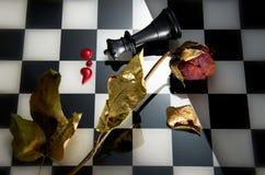 Juego de ajedrez de la estrategia Fotografía de archivo libre de regalías
