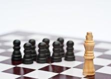 Juego de ajedrez del concepto del asunto de la estrategia Fotos de archivo libres de regalías