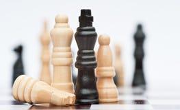 Juego de ajedrez del concepto del asunto de la estrategia Fotografía de archivo