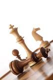 Juego de ajedrez del jaque mate Imágenes de archivo libres de regalías