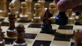 Juego de ajedrez en Brexit metrajes