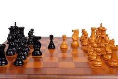Juego de ajedrez en curso Imágenes de archivo libres de regalías