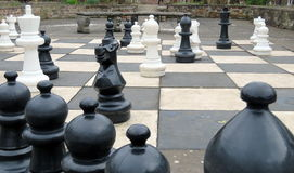 Juego de ajedrez gigante Imágenes de archivo libres de regalías