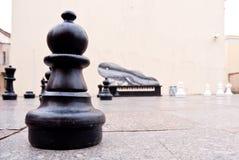 Juego de ajedrez gigante en Lituania Imagen de archivo