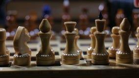 Juego de ajedrez, movimiento del empeño almacen de metraje de vídeo