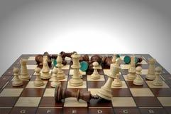 Juego de ajedrez que gana Fotografía de archivo libre de regalías