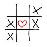 Juego de amor solated solo de la tarjeta del día de San Valentín del corazón stock de ilustración