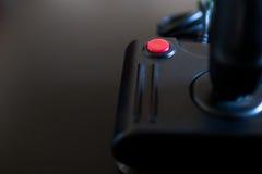 Juego de arcada de la palanca de mando para el ordenador y la consola de 80& x27; s C negra Imagen de archivo