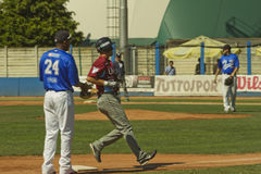 Juego de béisbol Imagen de archivo