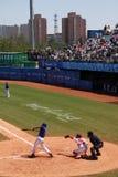 Juego de béisbol foto de archivo libre de regalías