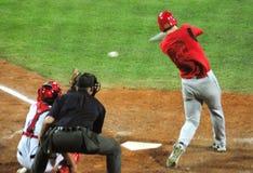 juego de béisbol de Cuba-Canadá Fotos de archivo