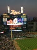 Juego de béisbol de Detroit Fotos de archivo libres de regalías