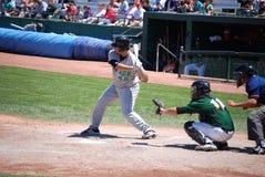 Juego de béisbol de la liga menor Imagen de archivo