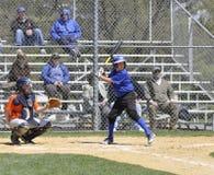 Juego de béisbol de la liga pequeña Fotografía de archivo libre de regalías