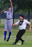 Juego de béisbol del viejo estilo Foto de archivo