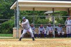 Juego de béisbol del viejo estilo Fotografía de archivo
