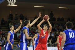 Juego de baloncesto Fotografía de archivo libre de regalías