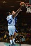 Juego de baloncesto de Kaposvar - de Fehervar Imagenes de archivo