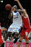 Juego de baloncesto de Kaposvar - de Kecskemet Fotografía de archivo