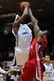 Juego de baloncesto de Kaposvar - de Paks Imagen de archivo