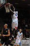 Juego de baloncesto de Kaposvar - de Pecs Foto de archivo