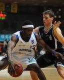Juego de baloncesto de Kaposvar - de Pecs Fotos de archivo