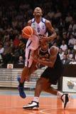 Juego de baloncesto de Kaposvar - de Pecs Imagen de archivo libre de regalías