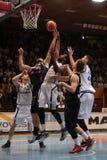 Juego de baloncesto de Kaposvar - de Pecs Imágenes de archivo libres de regalías
