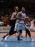 Juego de baloncesto de Kaposvar - de Pecs Imagenes de archivo