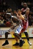 Juego de baloncesto de Kaposvar - de Salgotarjan Imagenes de archivo