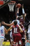 Juego de baloncesto de Kaposvar - de Salgotarjan Fotografía de archivo libre de regalías