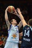 Juego de baloncesto de Kaposvar - de Szeged Imagen de archivo libre de regalías