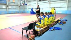 Juego de baloncesto del torneo Alexey Shved Belgorod Rusia 2017 almacen de metraje de vídeo