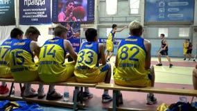 Juego de baloncesto del torneo Alexey Shved Belgorod Rusia 2017 metrajes