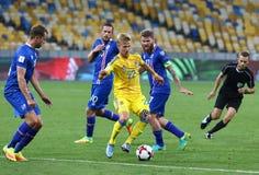 Juego de calificación Ucrania v Islandia del mundial 2018 de la FIFA Fotos de archivo libres de regalías