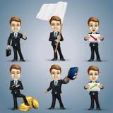 Juego de caracteres del hombre de negocios Imagen de archivo