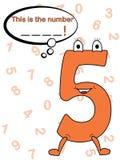 Juego de concurso con números Foto de archivo libre de regalías
