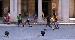 Juego de fútbol Foto de archivo libre de regalías