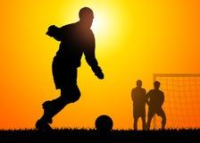 Juego de fútbol ilustración del vector