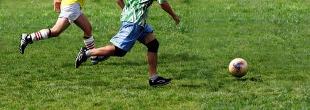 Juego de fútbol Imagen de archivo libre de regalías