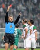 Juego de fútbol de Ferencvaros-Kaposvar Fotos de archivo