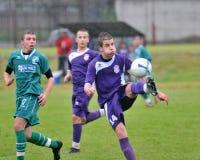 Juego de fútbol de Kaposvar - de Bekescsaba U19 fotografía de archivo