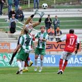 Juego de fútbol de Kaposvar - de Diosgyor Fotografía de archivo