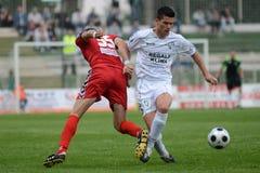 Juego de fútbol de Kaposvar - de Szolnok Imagen de archivo libre de regalías