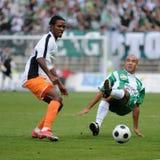Juego de fútbol de Kaposvar-Ferencvaros Imágenes de archivo libres de regalías